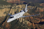 A Gulfstream G150 mid-size business jet in flight. (Gulfstream)
