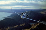 A Gulfstream G500 business jet in flight. (Gulfstream)