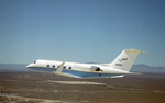 Grumman Gulfstream III seen over NASA's Dryden Flight Research Centre (Jim Ross/NASA)