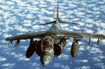 A US Marine Corps BAe/MDD AV-8B Harrier II during Operation Desert Shield. (DoD)