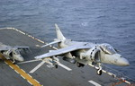 A US Marine Corps AV-8B from VMM-162 off the deck of the USS Nassau on 31 August 2009. (USMC)