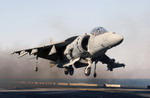 A US Marine Corps AV-8B Harrier from the USS Kearsarge on 16 August 2005. (USMC/Sgt Roman Yurek)