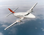 A BAe Jetstream 32 in flight. The  32 is basically a Jetstream 31 with major performance and comfort improvements. (Copyright BAE Systems)