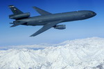 A Boeing KC-10A Extender from the US Air Force's 908th Expeditionary Air Refuelling Squadron over eastern Afghanistan on 26 November 2009. (USAF/Staff Sgt Michael B Keller)