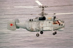 A Russian Navy Ka-27PL Helix-A antisubmarine helicopter in flight. (DoD)