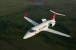 A Bombardier Learjet 40 in flight. (Bombardier)