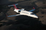 A Bombardier Learjet 45XR business jet in flight. (Bombardier)