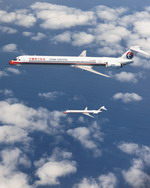 Two MD-90s of China Eastern airlines. (Image copyright of Boeing)