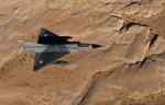 A Pakistan Air Force Mirage III flies over Jordan on 27 October 2010 for the Falcon Air Meet. (USAF/Wolfram M Stumpf)