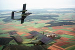 Two OV-10 Broncos from the 601st Tactical Air Support Group, Germany, during Exercise Reforger '81. (DoD)