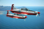A South African Air Force Pilatus PC-7 MKII in flight. (SAAF)