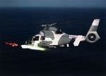 A Eurocopter AS 565 Panther launching an anti-ship missile. (Eurocopter)