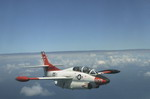 A Rockwell T-2 Buckeye from Training Air Wing Six, Pensacola, Florida. Although the elderly T-2 is being phased out of US service, Buckeyes continues to serve with a number of other countries. (DoD)