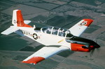 A Beech T-34C Mentor in flight. First flown in 1948, the T-34 is still inservice with a number of countries. (DoD)