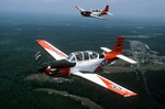 Two Beech T-34C Mentors assigned to the Airborne Board at Fort Bragg, USA. (Master Sergeant Kenneth Hammond/DoD)