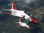 Two T-45A Goshawks fly over South Texas on 4 June 2008. (USN/Lt j.g. John A Ivancic)