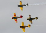 Four T-6 Harvards during the 2010 Point Cook Air Pageant in Australia on 28 February 2010. (Australian DoD)