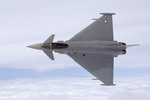 An Austrian Air Force Eurofighter Typhoon in the skies above Zeltweg, Austria, in July 2007. (Austrian Armed Forces)