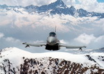 An Austrian Air Force Typhoon over the mountains. (EADS)