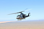 A Bell UH-1Y Venom flies over California during a training exercise on 3 March 2010. (USMC/Lance Cpl Aaron Diamante)