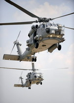Two Sikorsky MH-60R Sea Hawks from Naval Air Station Jacksonville on 10 June 2009. (USN/Mass Communication Specialist 2nd Class Shannon Renfroe)
