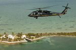A US Customs and Border Patrol UH-60 in flight. (USCBP)