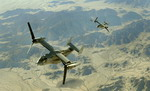 Two US Marine Corps MV-22 Ospreys over the Barry M Goldwater Range, MCAS Yuma, on 31 October 2009. (USMC/Gunnery Sgt Bill Lisbon)