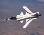 A Grumman X-29 on 24 July 1987. (NASA)