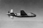 The Douglas XB-42 Mixmaster featured two V12 piston engines driving contra-rotating propellors, but was later fitted with jet engines and used for test purposes. Although the XB-42 performed very well, it was eclipsed by jet aircraft. (USAF(